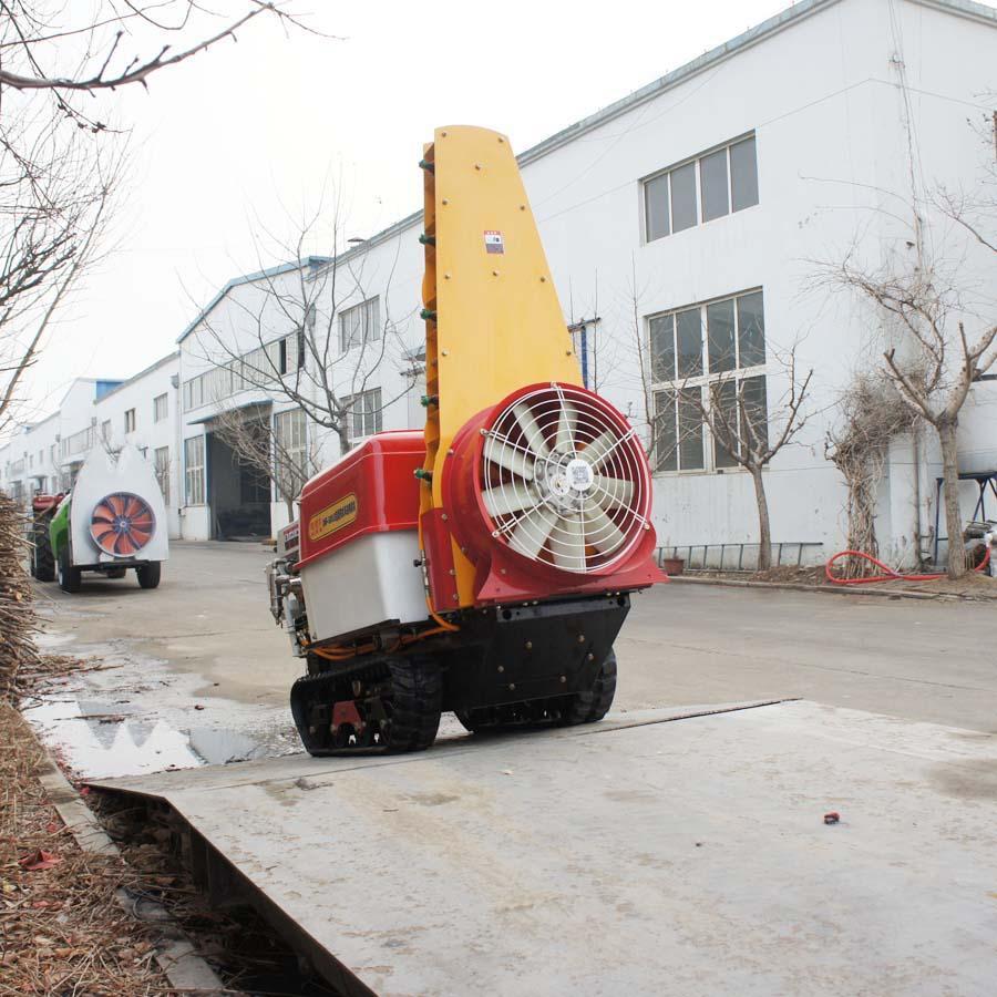迷你遥控履带柴油自走风送喷雾机   10