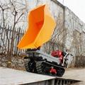 rubber tracked site dumper transportor