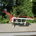 Mini Walk Behind crawler gas engine wheel barrow