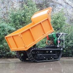 載重1000KG棕櫚園履帶柴油液壓翻斗車