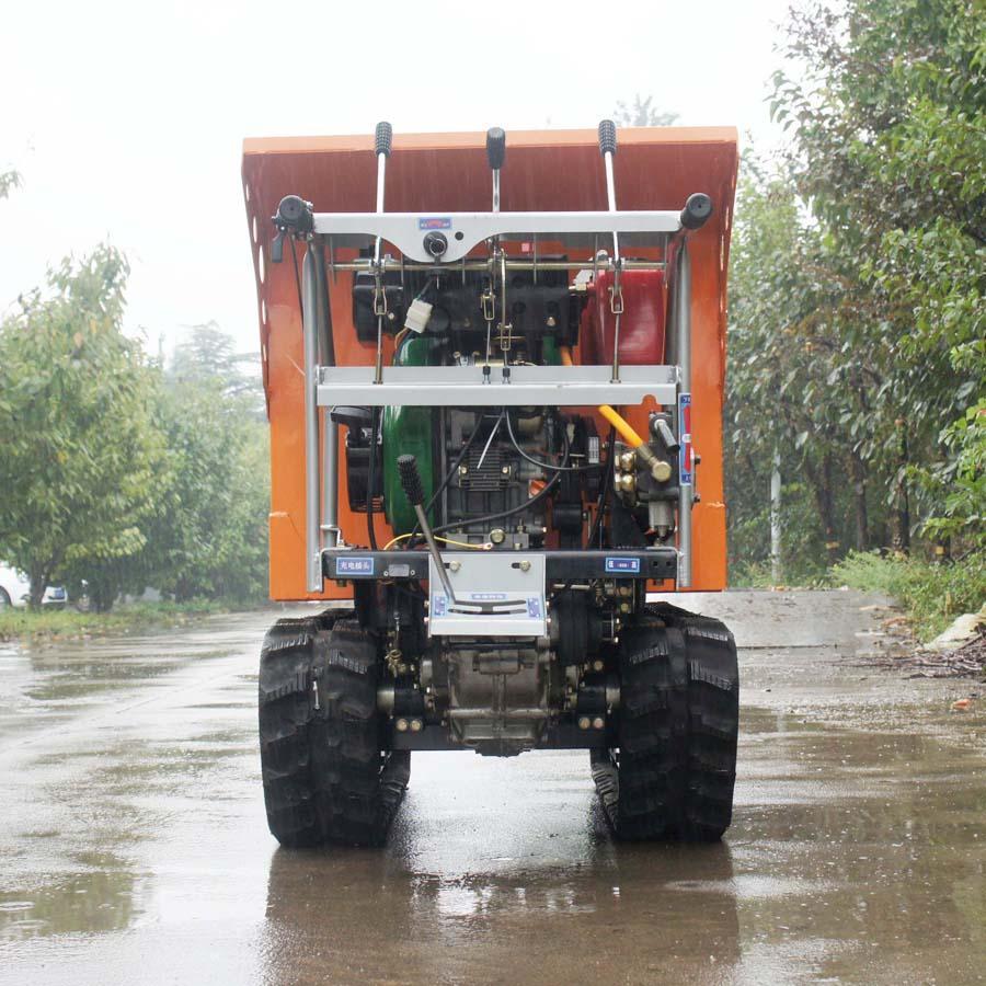 載重1000KG棕櫚園履帶柴油液壓翻斗車 4