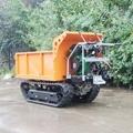 載重1000KG棕櫚園履帶柴油液壓翻斗車 5
