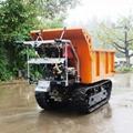 載重1000KG棕櫚園履帶柴油液壓翻斗車 8