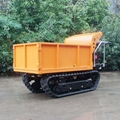 Loading 1000KG micro crawler dumper for fruits garden