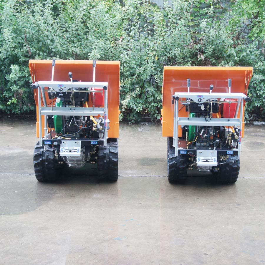 載重1000KG棕櫚園履帶柴油液壓翻斗車 10