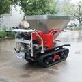 mini crawler type hydraulic motor drive fertilizer spreader 5