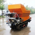 履帶大棚液壓馬達土肥撒肥機 3