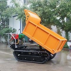 载重1000KG棕榈园履带柴油液压翻斗车