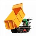 棕榈果园柴油履带柴油液压翻斗车
