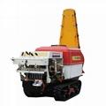 garden crawler type air blast power sprayer