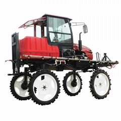 Agricultural tractor power pesticide machine