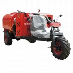 Mini wheel type  diesel engine garden air blast sprayer