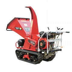 wood chipper with crawler type self propelled type