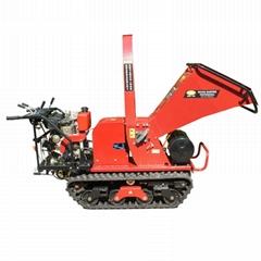 Mini crawler self propelled type wood shredder