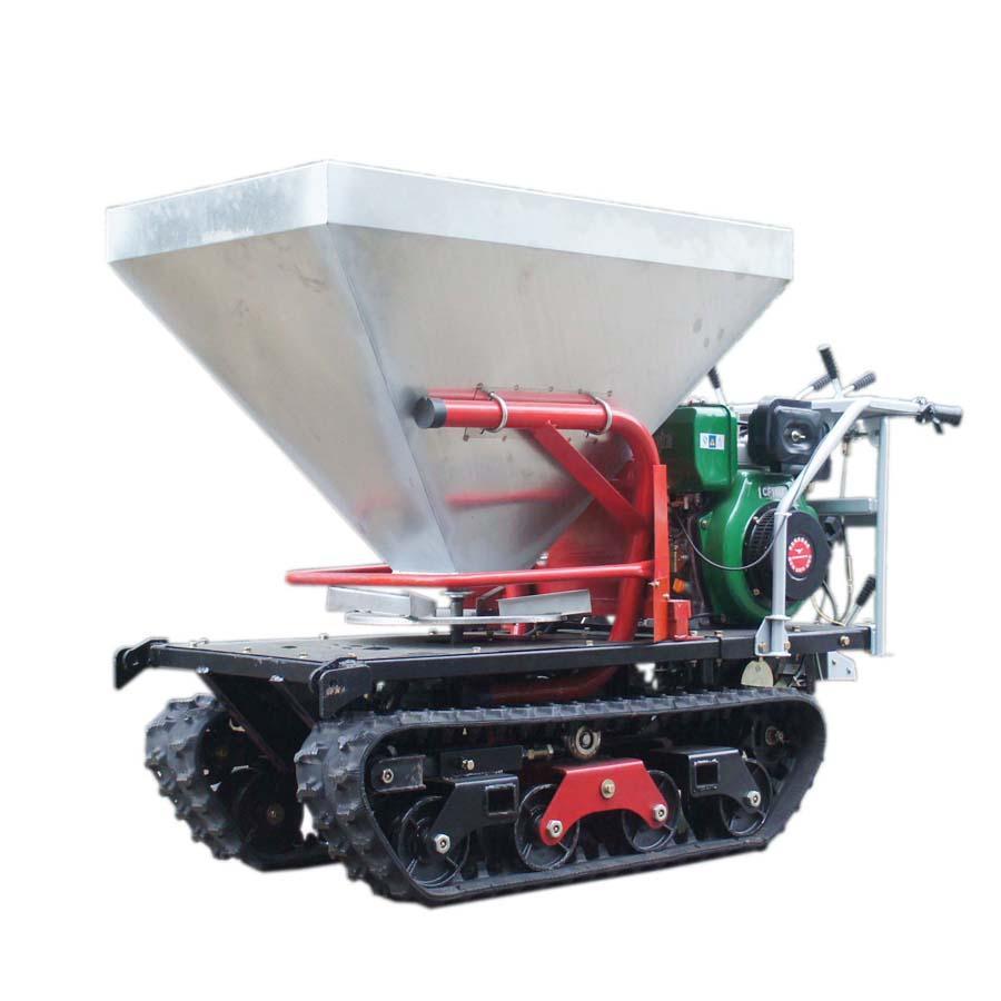 mini crawler type hydraulic motor drive fertilizer spreader 1