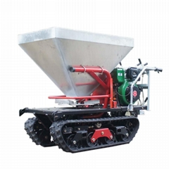 mini crawler type hydraulic motor drive fertilizer spreader
