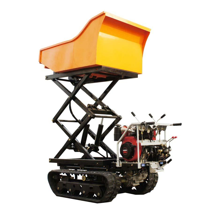 Crawler type dumper with lift container