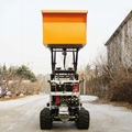 palm garden full rubber crawler dump transporter