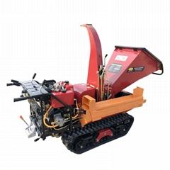 Mini crawler Wood Chipper and wood splitter