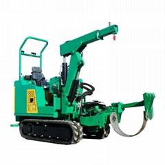 迷你履带圆弧刀式移树机/挖树机 JYD-36