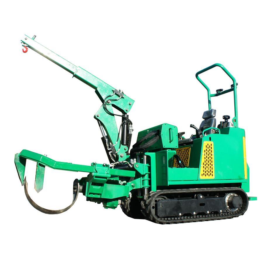 mini crawler type tree transplanter tree remover for garden 3