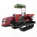 crawler type Muck spreader for spreading solid manure and fertilizer