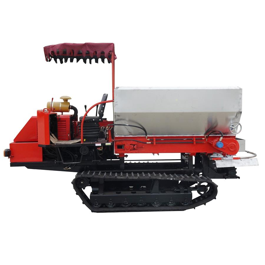 Dry Fertilizer Applicator with crawler type for paddy filed 1