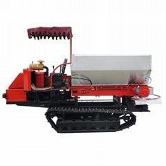 履帶自走式大棚農家肥土肥撒肥機