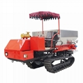 Dry Fertilizer Applicator with crawler type for paddy filed 2