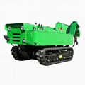 mini tracked chain walk behind tractor with fertilizer spreader