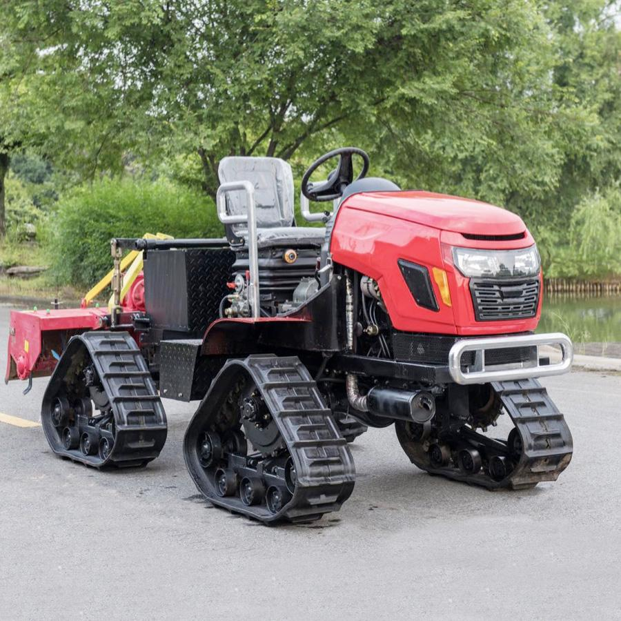 4WD Triangular Tracked transporter Tractor 3