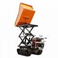 palm oil garden Crawler type dumper with lift container