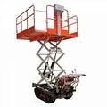 mini crawler type orchard mulitifunction garden work platform