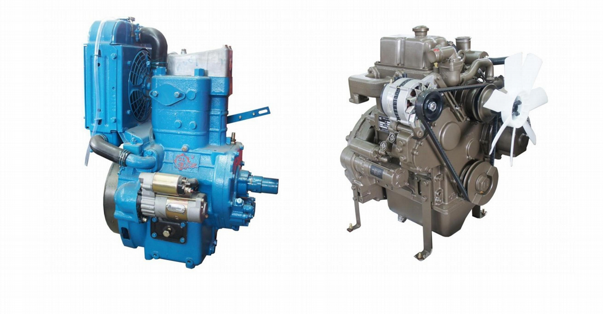 1 cylinder and 2 cylinder diesel engine