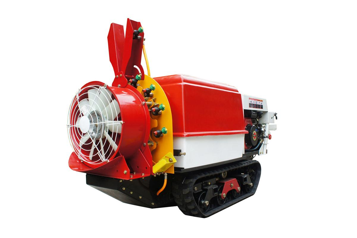 Self propelled crawler air blast power sprayer    9