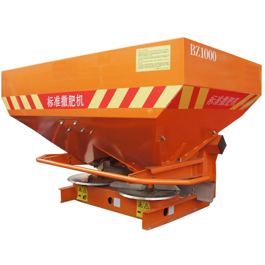 PTO driven double disc gearbox fertilizer spreader