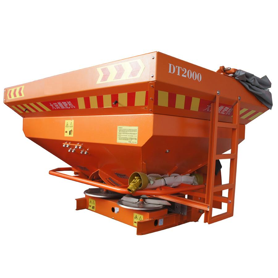 PTO driven double disc gearbox fertilizer spreader
