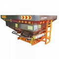 Agricultural tractor mounted fertilizer