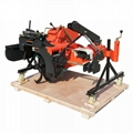 rice field tractor mounted ridger making machine