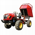 4WD Triangular Tracked transporter Tractor 4