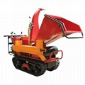 Mini crawler Wood Chipper and wood splitter
