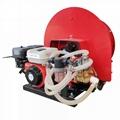 Vehicle mounted garden air blast sprayer
