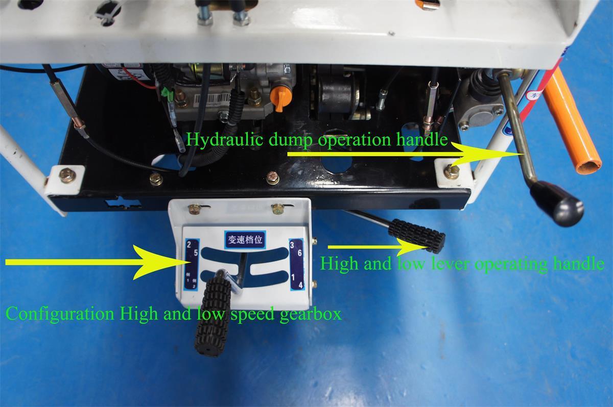 棕櫚果園柴油履帶柴油液壓翻斗車 17