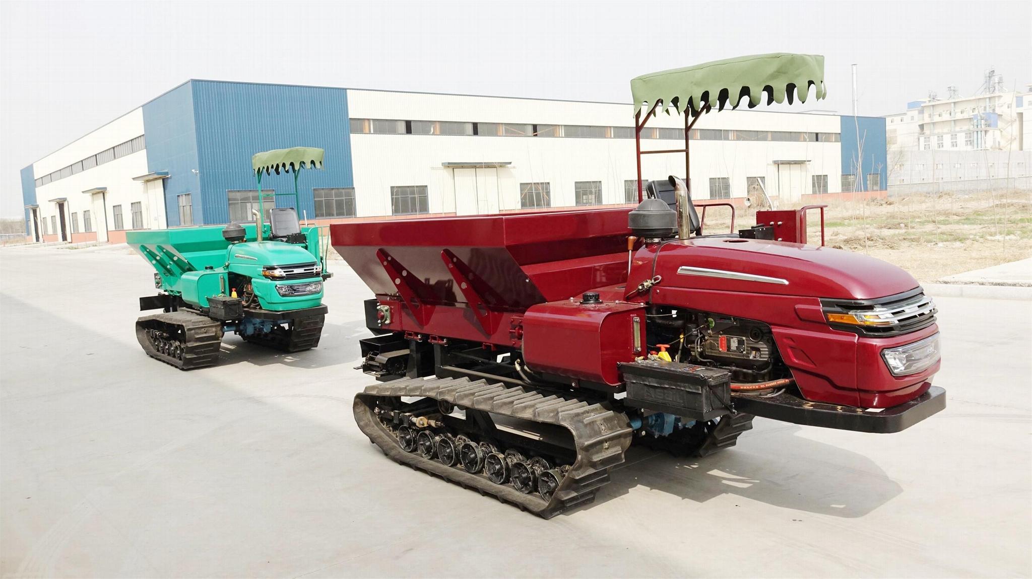 履带自走式柴油有机肥土肥抛洒机 5