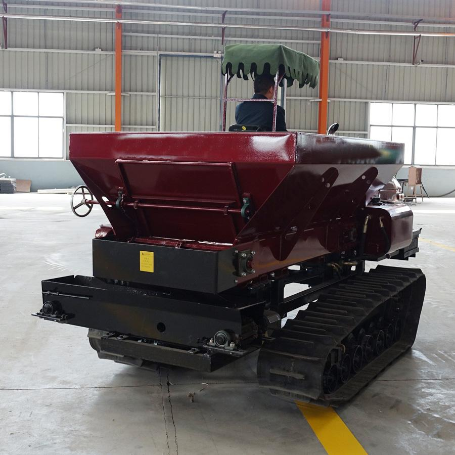 crawler type Muck spreader for spreading solid manure and fertilizer 10