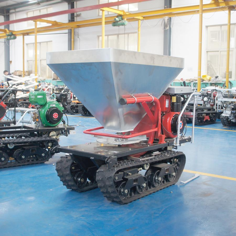 mini crawler type hydraulic motor drive fertilizer spreader 6