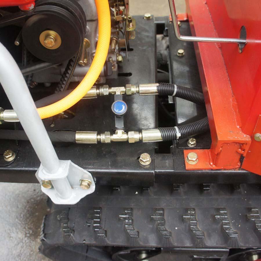 mini crawler type hydraulic motor drive fertilizer spreader 8