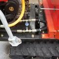 mini crawler type hydraulic motor drive fertilizer spreader