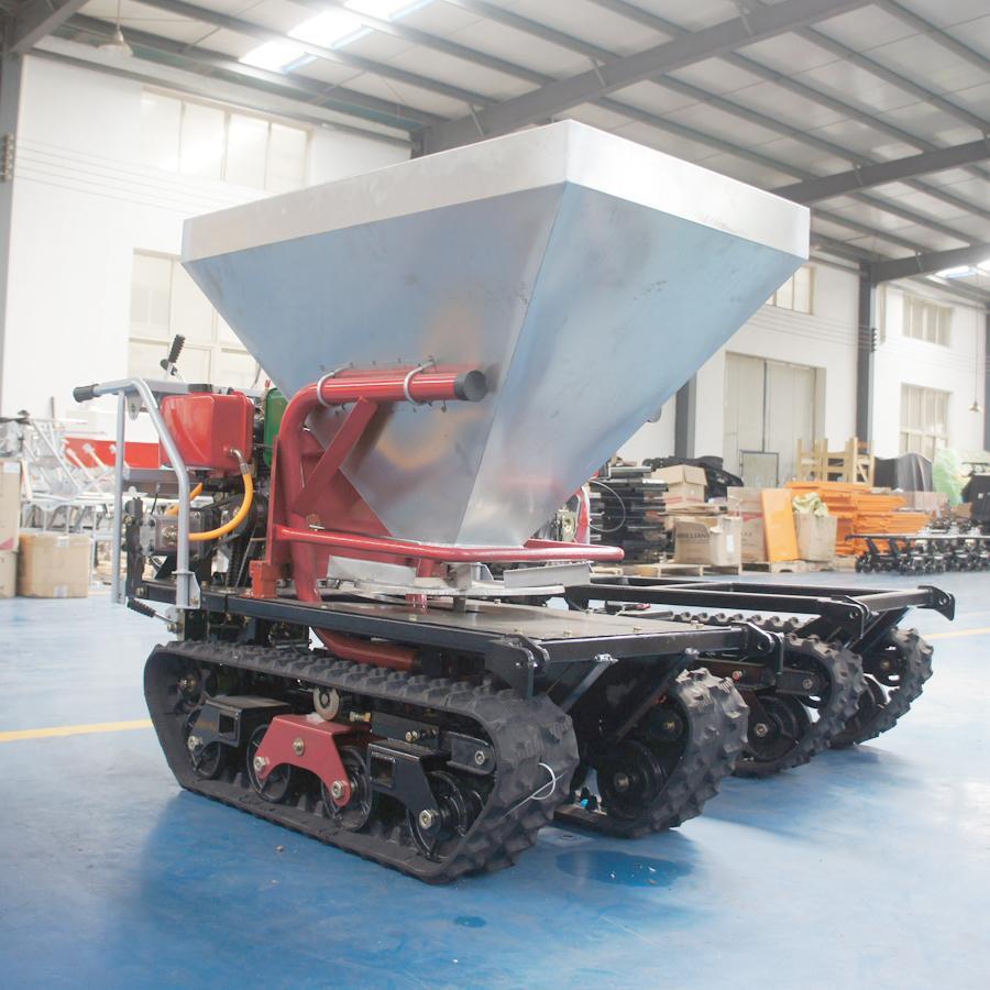 mini crawler type hydraulic motor drive fertilizer spreader 3