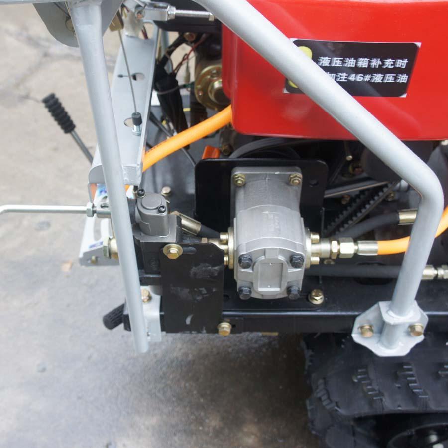 mini crawler type hydraulic motor drive fertilizer spreader 9